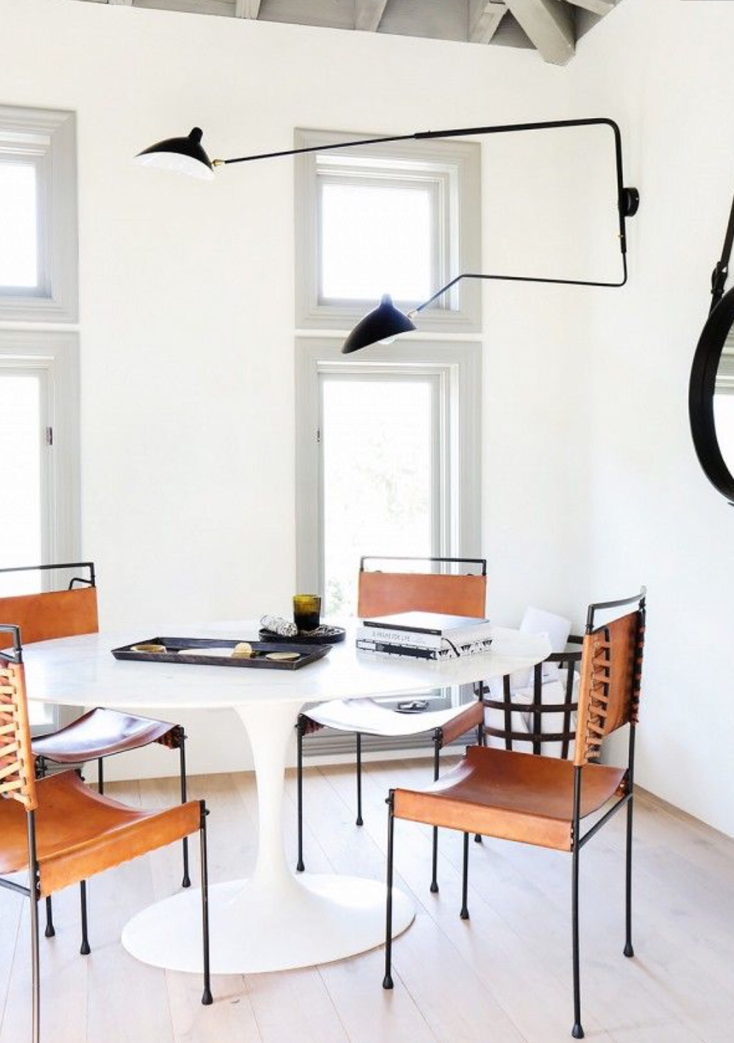 Http://www.mydomaine.com/vanessa Alexander Malibu Home/slide21. This Is My  New Favorite Application. A Wall Lamp Reaching Out Over A Dining Table?